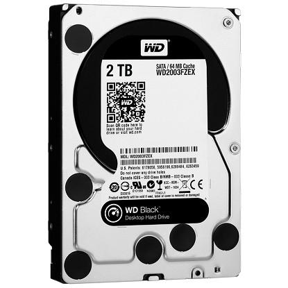 WD HDD 2TB Black 7200rpm