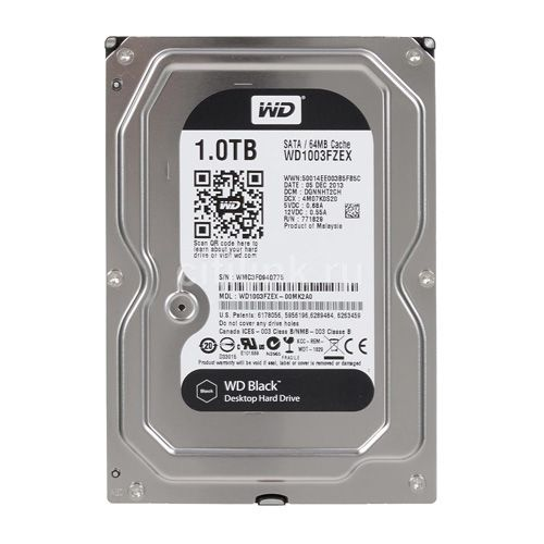 WD HDD 1TB Black 7200rpm